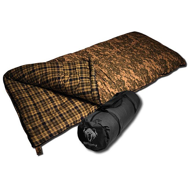 Grizzly 25-degree Green Camo Sleeping Bag