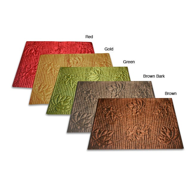 Falling Leaves Quilted Placemats (Set of 6)