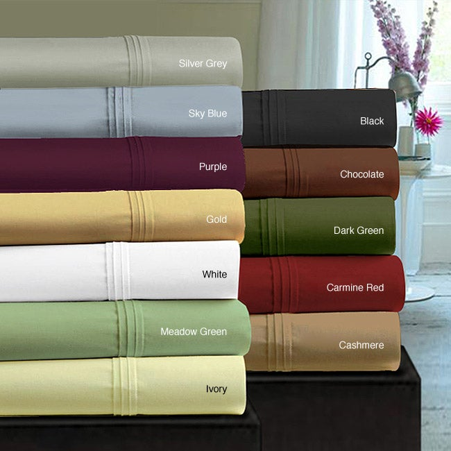 Egyptian Cotton Sateen 350 Thread Count Pillowcases (Set of 2)