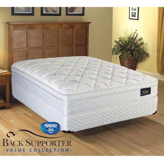 Spring Air Meadow Pillow Top Value Back Supporter Full-size Mattress Set