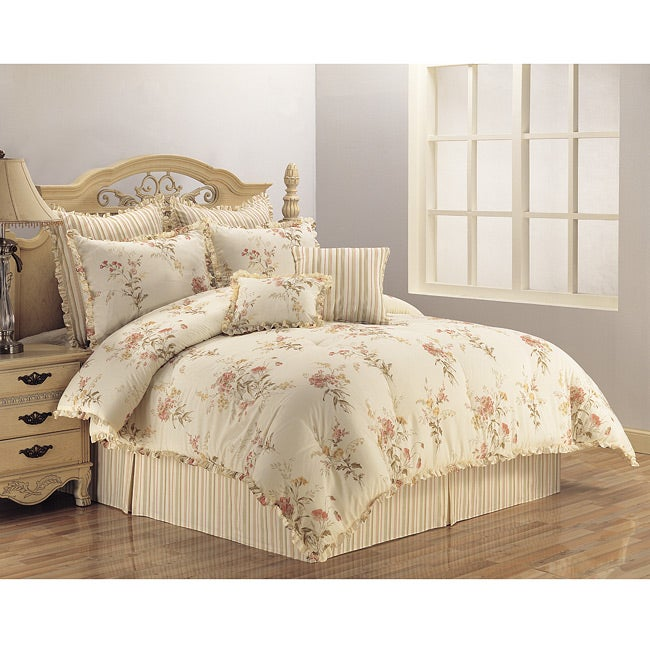 country bouquet 4 piece full queen size comforter set