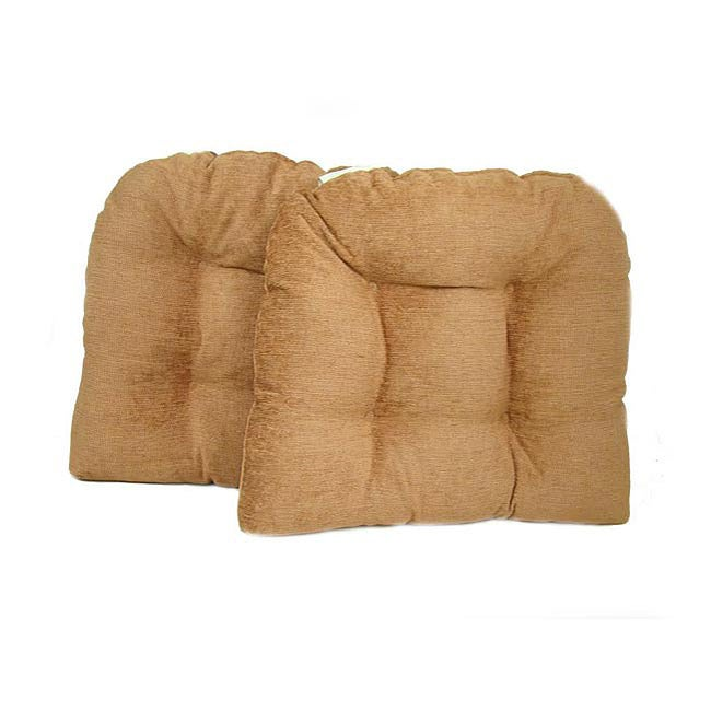 Peach Kitchen/ Dining Chair Pads (Set of 2)