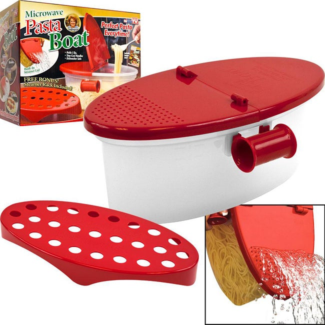 As Seen on TV Microwave Pasta Boat (Set of 2)