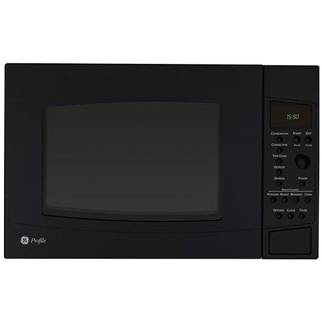 Overstock.com GE Profile PEB1590DMBB Black 1.5-cu-ft Countertop Microwave Oven at Sears.com