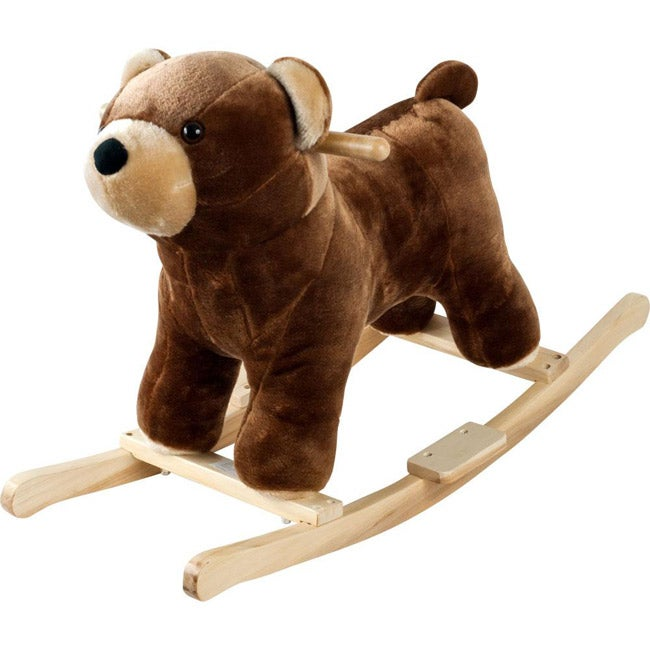 Sports and Toys by O Happy Trails Handcrafted Wood Plush Rocking Barry Bear with Sounds at Sears.com