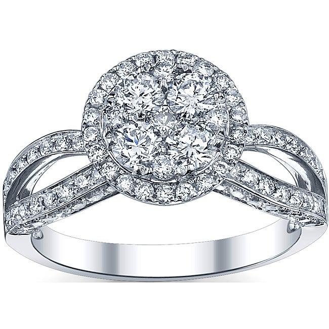 18k White Gold 1 1/2ct TDW Diamond Engagement Ring (G-H, SI1-SI2)
