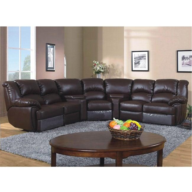 Lorimar 5-piece Leather Reclining Sofa Set