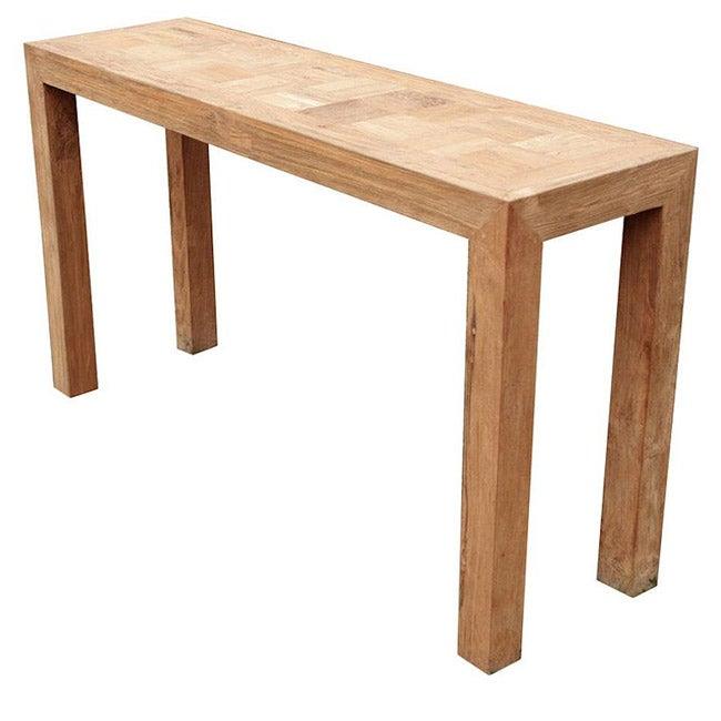Reclaimed teak indoor furniture console table overstock
