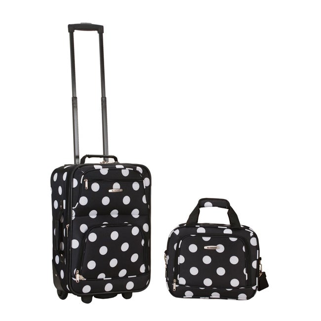 Luggage by O Rockland Expandable Black Dot 2-piece Lightweight Carry-on Luggage Set at Sears.com