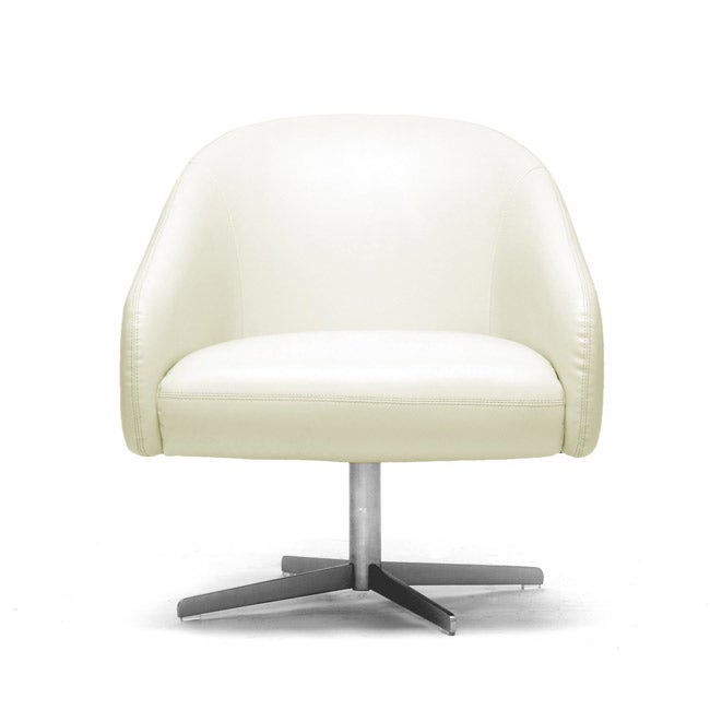 balmorale ivory leather modern swivel chair overstock shopping