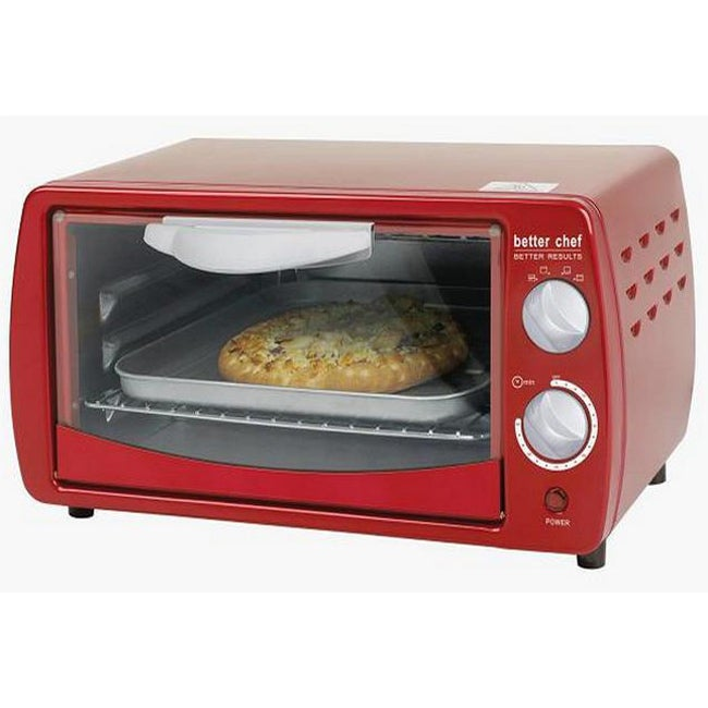 Better Chef IM268R Classic Red 9-liter Toaster Oven