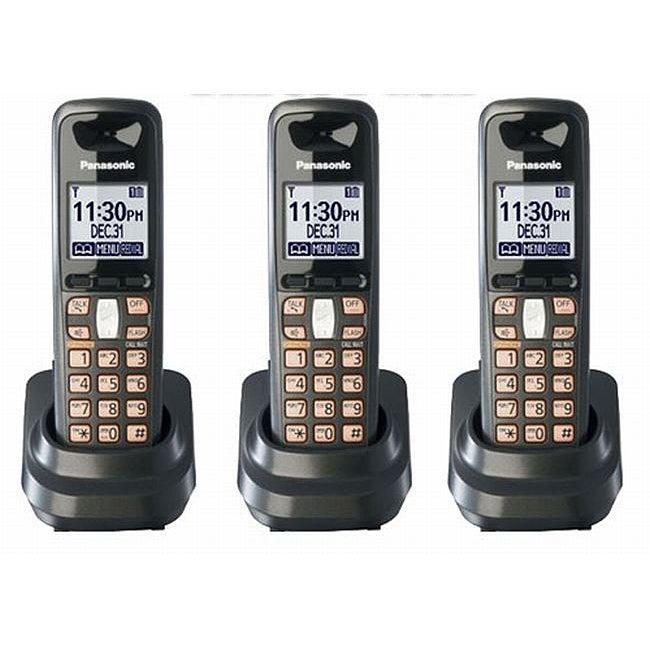 Panasonic KX-TGA641T DECT 6.0 Digital Cordless Handsets (Set of 3)