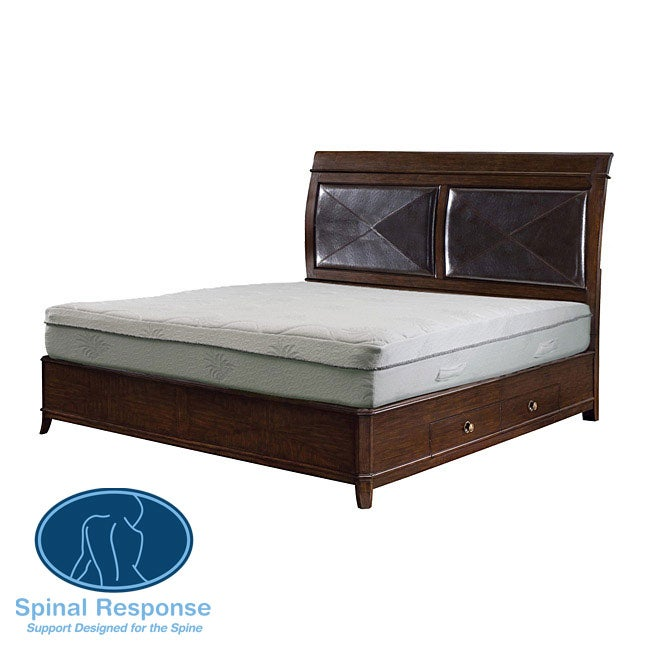 Spinal Response Aloe 11-inch Queen-size Smooth Top Memory Foam Mattress