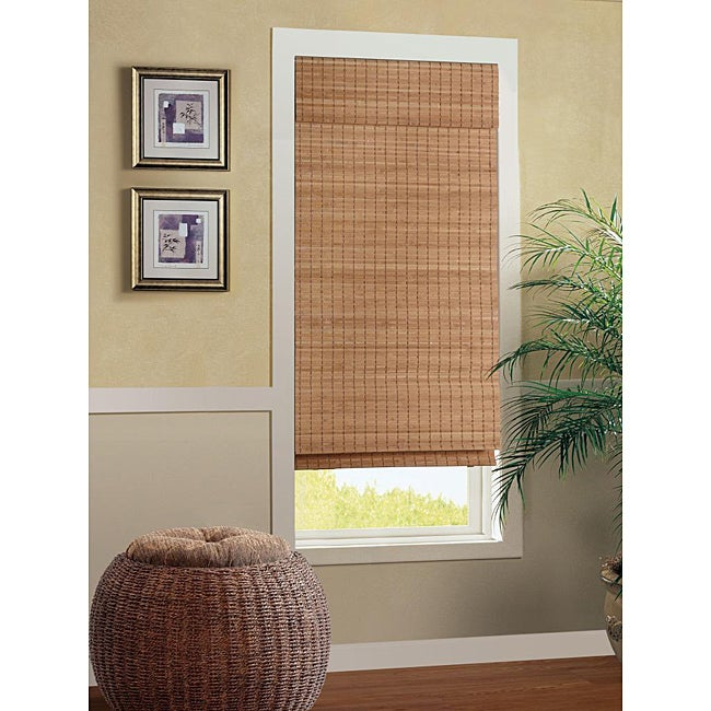 Nantucket Cordless Bamboo Roman Shade (35 in. x 72 in.)