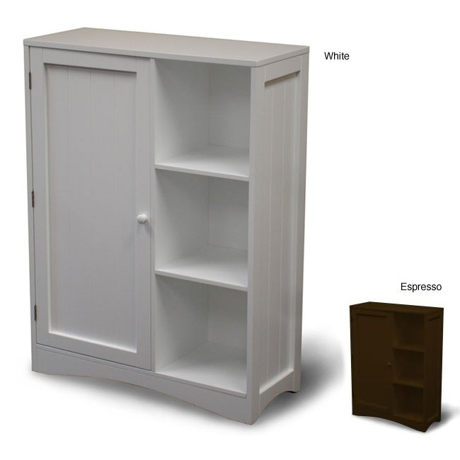 Storage Cabinet with Door and Shelves