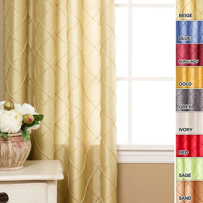 Faux Silk Pintuck 84-inch Curtain Panel Pair