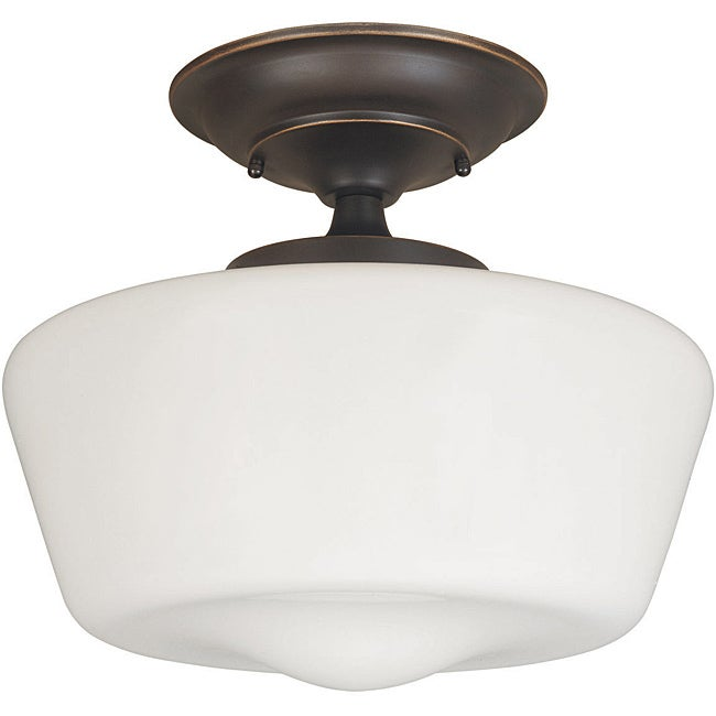 Luray Collection 1-light Oil-rubbed Bronze Finish Semi-flush Fixture