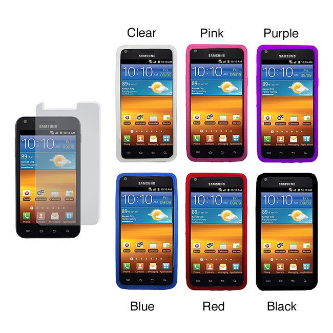 Samsung Galaxy S2 Sprint Epic 4G Touch Silicone Case and Screen Protector