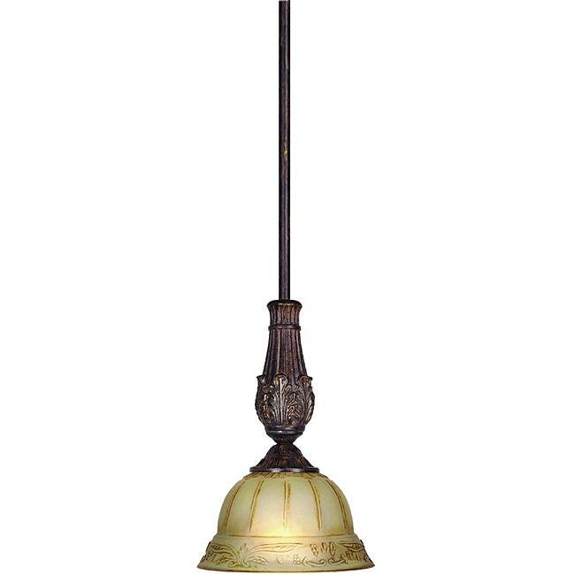 Woodbridge Lighting Lucerne 1-light Old World Bronze Mini Pendant