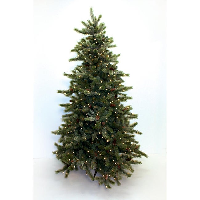 Good Tidings Hudson Pine 600 Clear Lights 7.5-foot Christmas Tree