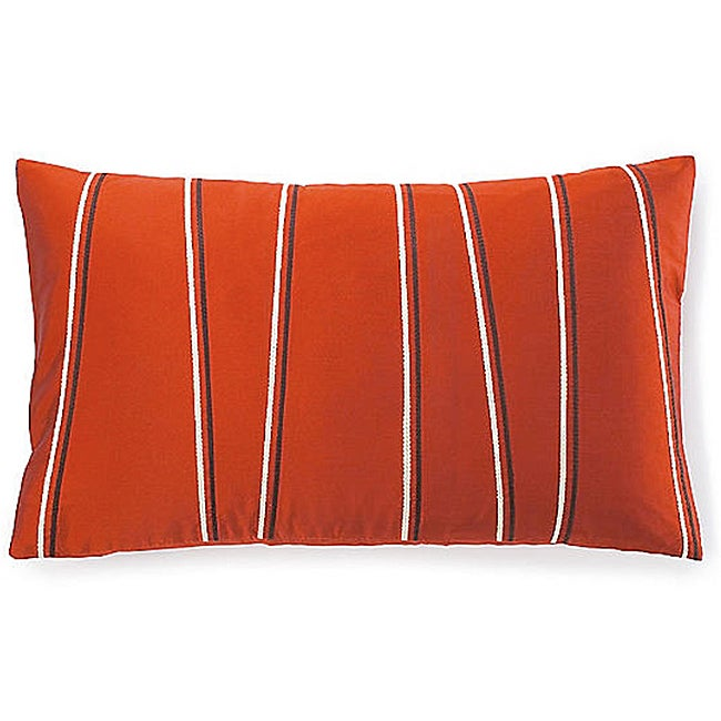Diagonal Orange Poly Decorative Pillow