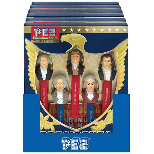 Pez 'Presidents of the USA Unique Picture Library Volume 1, 1789-1825' Candy Dispenser with Candy Rolls