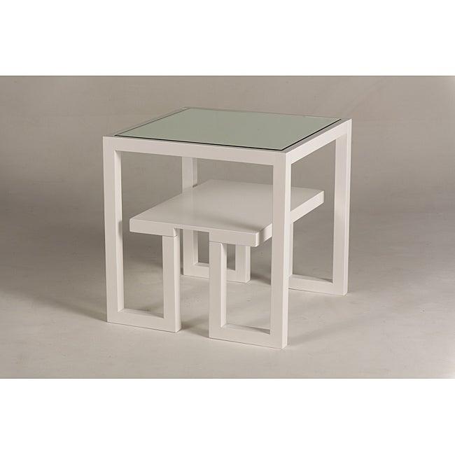 Jade Mirror-Top End Table