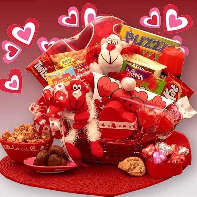 'A Little Monkey Business' Kids Valentine's Gift Basket