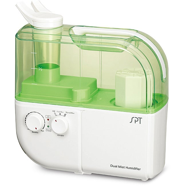 Overstock.com Dual Mist Humidifier with ION Exchange Filter in Green at Sears.com