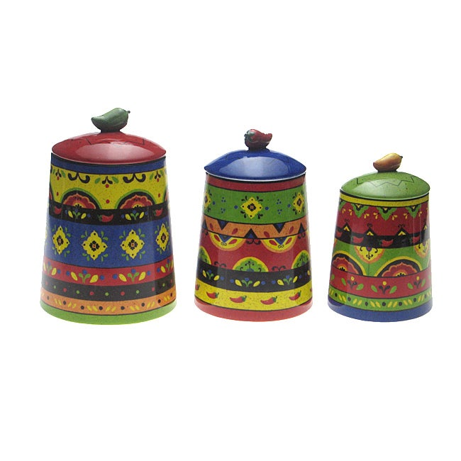 Certified International Hot and Saucy 3-piece Canister Set