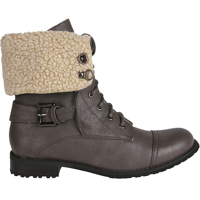 Simple West BLVD Cario Combat Women US 7 Gray Combat Boot  EBay