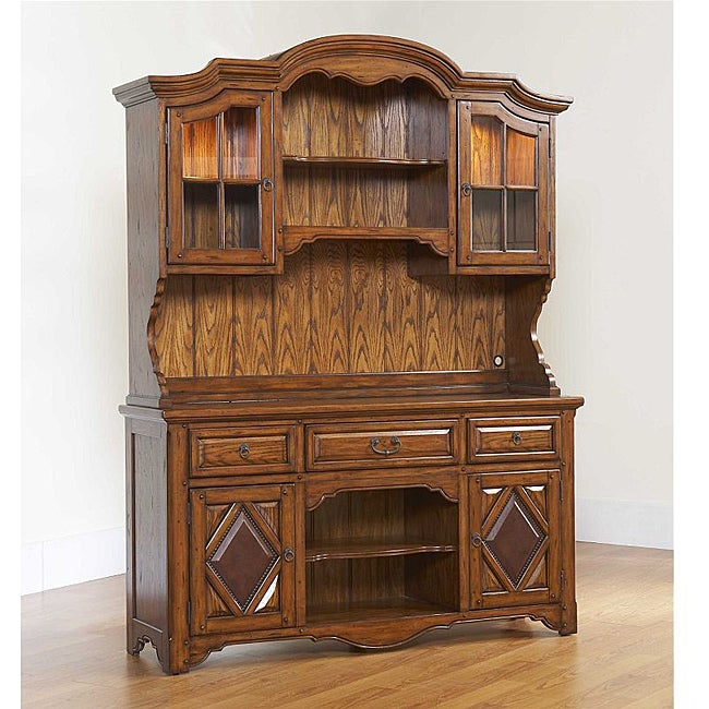 Broyhill Casa Grande Leather China Base and Hutch