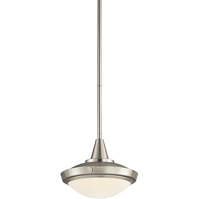 Aztec Lighting Contemporary 1-light Pendant in Brushed Nickel