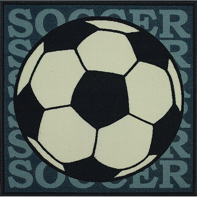 Somette Tufted Soccer Rug (3' x 3')