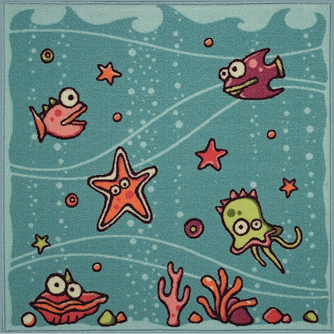 Somette Tufted Under the Sea Rug (3' x 3')