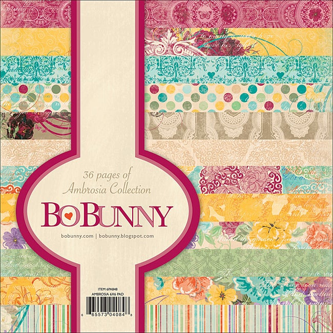 Bo Bunny Ambrosia 6x6-inch Scrapbooking Paper Pad (36 Sheets)