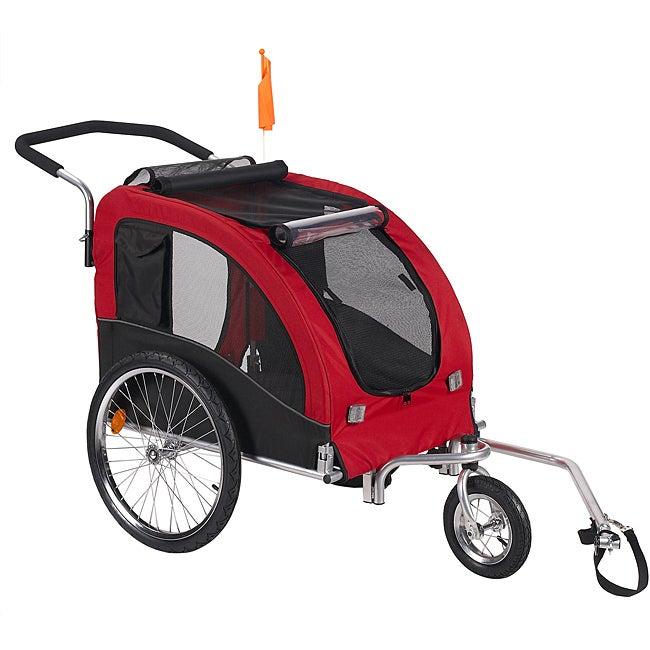 'Large' Red Comfy Dog Bike Trailer/ Stroller Kit