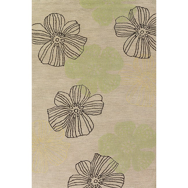 Solano Beige/ Brown Transitional Area Rug (5' x 8')