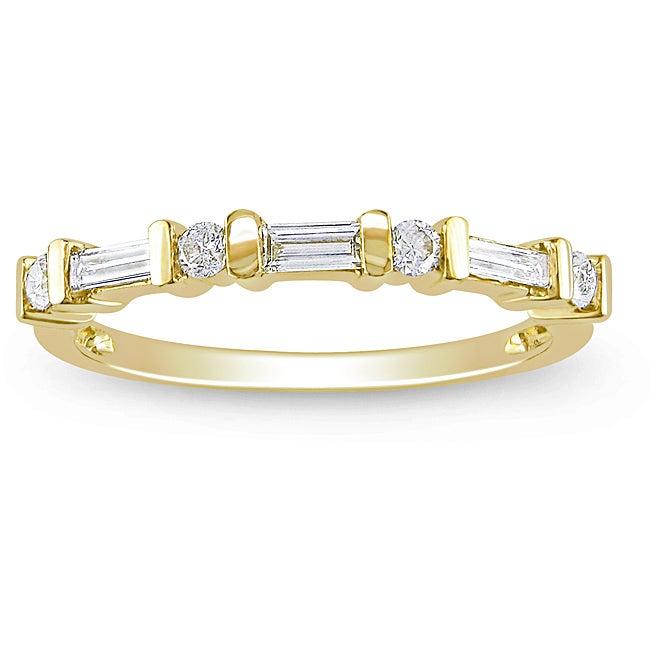 10k Yellow Gold 1/3ct TDW Diamond Ring (H-I, I2-I3)