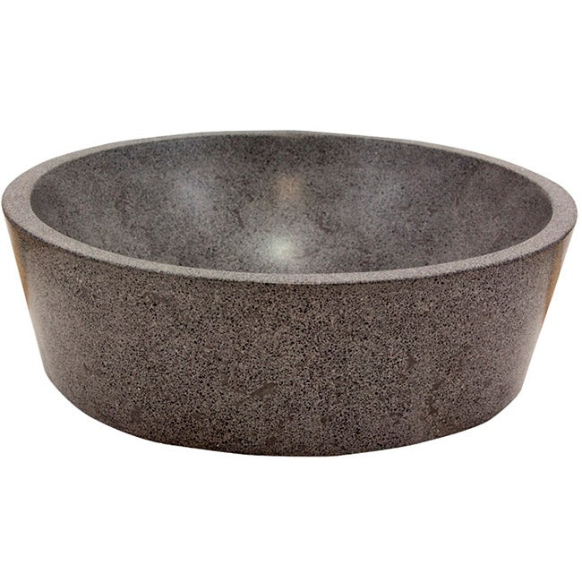 Full Moon Concrete Grey Vessel Bathroom Sink
