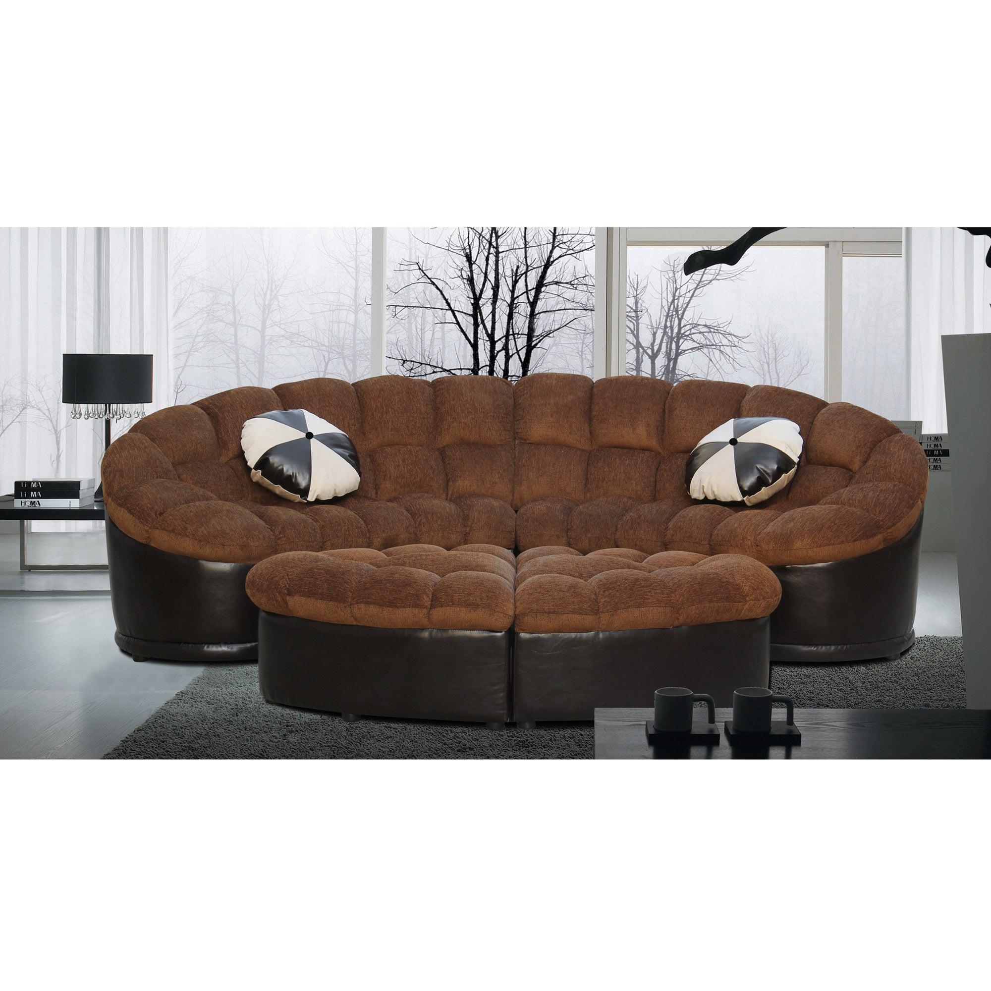 Diana 4-pc Comfy Sectional Sofa Set