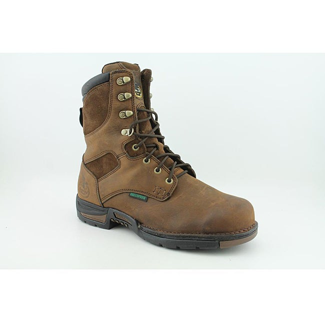 """Georgia Men's G8453 8"""" GWP Work Athens Brown Boots Wide"""