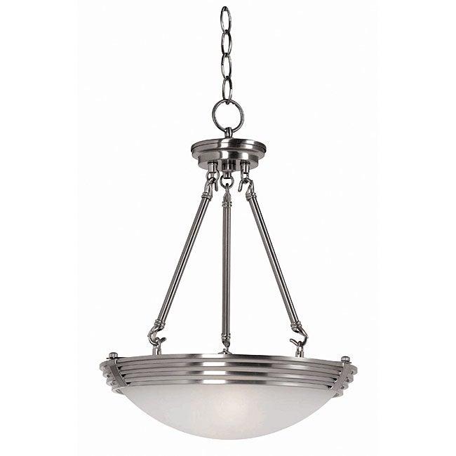 Lumix Brushed Steel 2-light Pendant