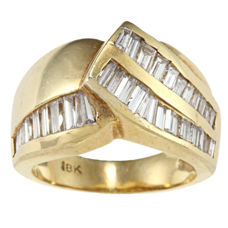 18K Yellow Gold 1 1/2ct TDW Estate Ring (I-J, SI1-SI2)