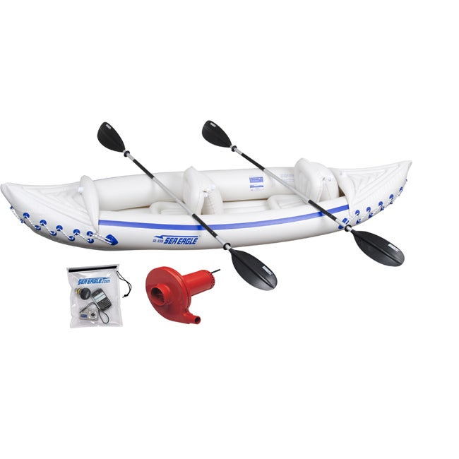 Sea Eagle 330 Deluxe Package with Electric Pump and Waterproof Bag