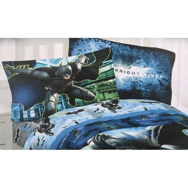 DC Microfiber Batman 'Forced Darkness' Twin-size Sheet Set