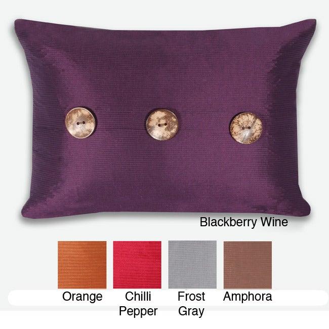 Porter Button 16x22-inch Pillow