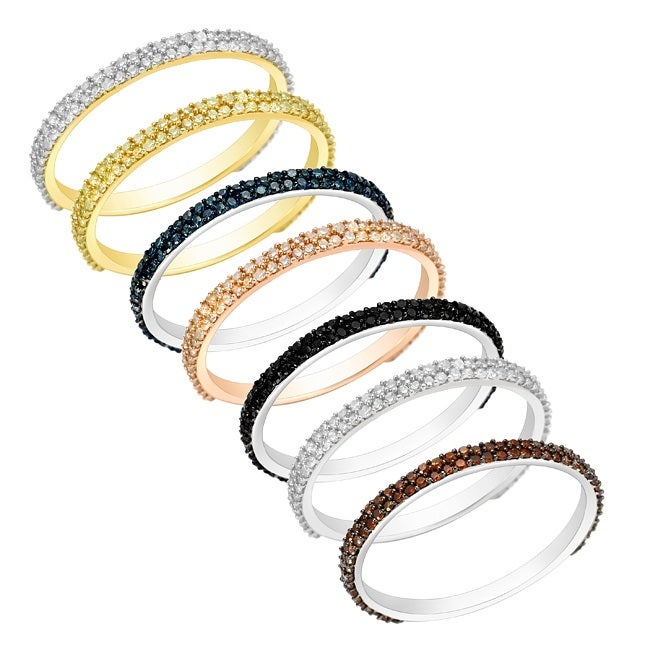 10k Gold 1/4ct TDW Stackable Diamond Ring