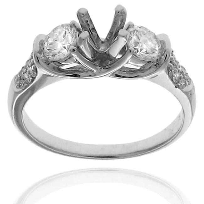 14k White Gold 3/4ct TDW Diamond Semi-mount Engagement Ring (G-H, SI1/SI2)