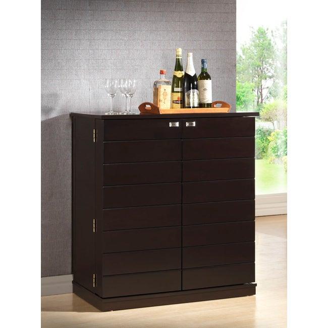 Stamford Dark Brown Modern Bar Cabinet Overstock Shopping Big Discounts On Baxton Studio Bars